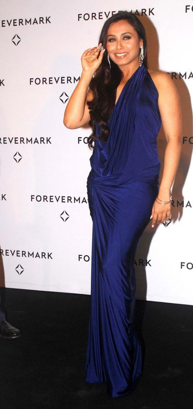 Rani Mukherjee Hot In Blue Dress Latest Photos  Masala Pics-9598